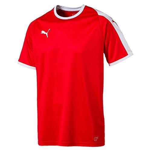 Puma Erwachsene Liga Jersey, Red White, L (Jersey Fußball Liga)