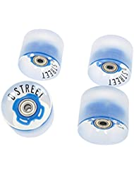 D-Street longboard Wheels 59 Cents LED 78A - Blue
