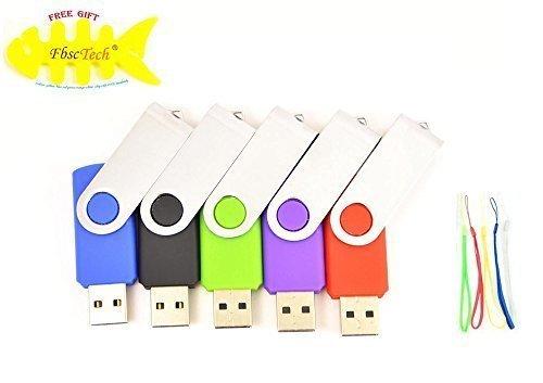EBNISCTE 5 piezas 2GB Pen Drive Giratoria Multicolor USB 2.0 Almacenamiento Externo