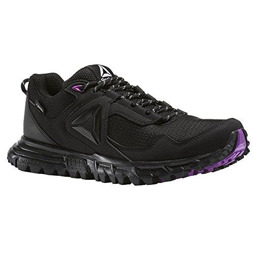 Reebok Damen Sawcut 5.0 GTX Walkingschuhe, Schwarz (Black/Vicious Violet/Cloud Grey), 39 EU
