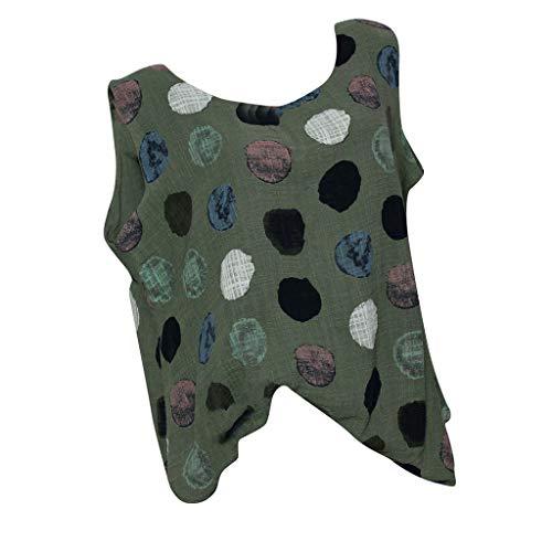 Watopi Sommer Frauen Kurzarm ärmelloses t-Shirt Sexy Dot Bluse Top Oberteile (Batman Schlüsselanhänger Bff)