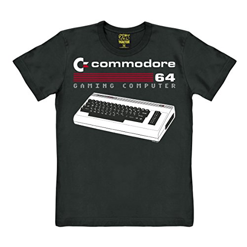 Licensed C64 Computer T-shirt, black - XS to XXL