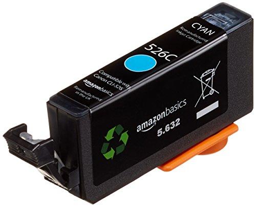 AmazonBasics - Wiederaufbereitete Tintenkartusche für Canon CLI-526, Cyan