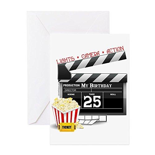 CafePress Geburtstagskarte zum 25. Geburtstag (Hollywood-Film), blanko innen glänzend