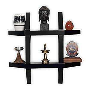 Forzza Aldo Wall Shelf (Black)