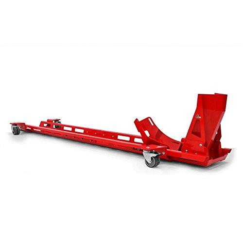 Preisvergleich Produktbild Rangierschiene mit Motorrad-Wippe Motorradwippe 17-21 Zoll Radhalter Radwippe Rangierhilfe Parkhilfe rot IBEX