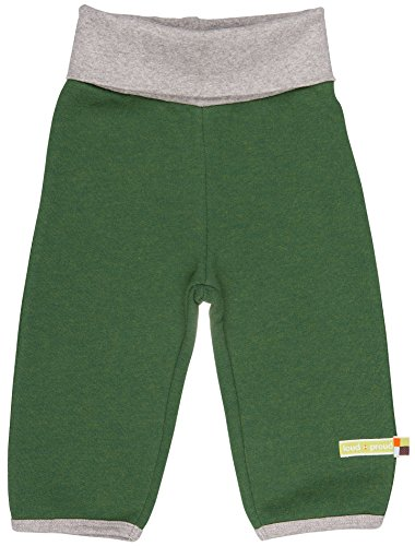 loud + proud Unisex Baby Woll-Anteil Hose, Grün Pin, 68 (Herstellergröße: 62/68) - Hose Pin