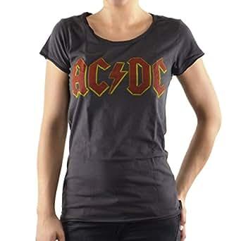 Amplified - Damen Girls Rock Band T-Shirt AC/DC Logo (S)