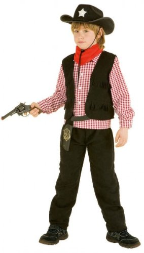 PARTY DISCOUNT ® Kinder-Kostüm Cowboy Lucky, Gr. 140, 7-9 Jahre (Lucky 7 Kostüm)
