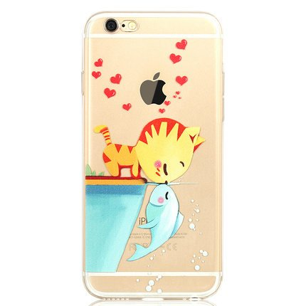 iPhone 6 plus Hülle ,iPhone 6s plus Hülle , koala group® Mania Series Transparent Weiche Silikon Schutzhülle Ultradünnen Anti-stoß Kratzfeste TPU Bumper Case Hülle---NO7 Nr. 7