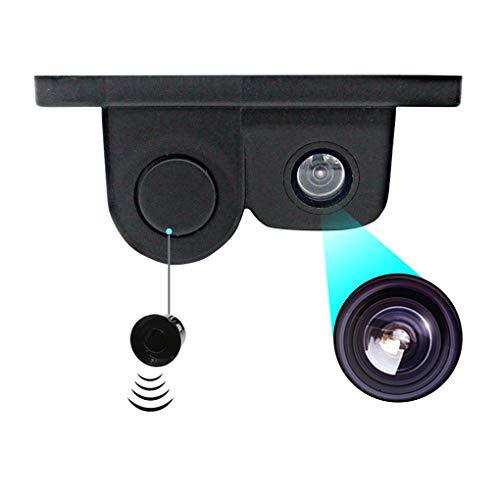 41kgnbJ%2BhKL - Luckiests 2 en 1 Auto estacionamiento del sensor del sonido de alarma del revés del coche del vídeo de copia de seguridad del coche granangular de alta definición marcha atrás cámara de visión trasera
