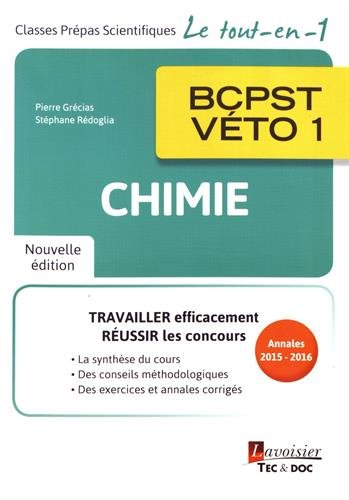 Chimie BCPST-Vto 1re anne