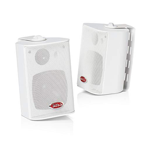 Boss Audio Systems MR4.3W Lautsprecher 200 Watt, 4 Zoll, 3-Way, in Door/Out Door, Weiß