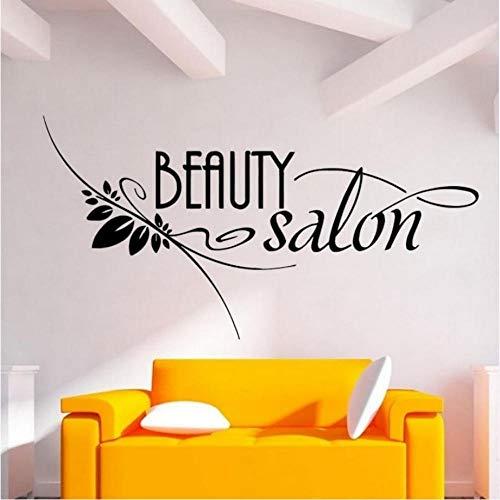 ljmljm Schwarz 43x84cm Kundengerechte Schönheitssalon-Schönheits-Salon-Maniküre-Studio-Selbstklebende entfernbare Geschnitzte Wand-Aufkleber