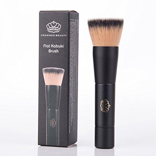 crowned-belleza-fundacion-maquillaje-cepillo-con-parte-superior-plana-kabuki-gran-para-mezclar-liqui