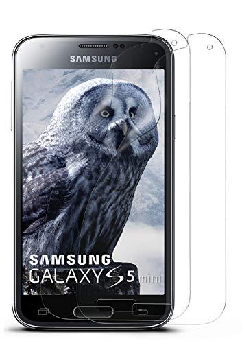 moex 2X Samsung Galaxy S5 Mini | Schutzfolie Klar Bildschirm Schutz [Crystal-Clear] Screen Protector Display Handy-Folie Dünn Bildschirmschutz-Folie für Samsung Galaxy S5 Mini Bildschirmfolie