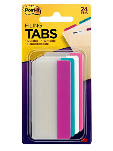 Post-it Tabs, 7,6cm massiccio 24 Tabs Assorted Colors