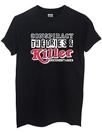 Rock Paper Sisters Unisex Slogan T-Shirt: Conspiracy Theories & Killer Documentaries