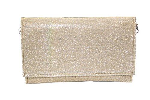 Wear & Walk UK , Damen Sandalen Bag-Gold