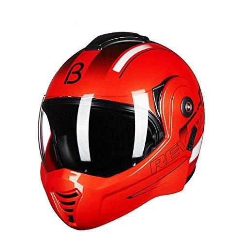 Moto Cool Double 180 gradi Flip Helmet Winter Moto Personalità Atv Off-road Casco moto uomo e donna Casco moto 1 L
