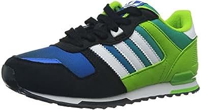 adidas Originals ZX 700, Unisex-Kinder Sneakers, Mehrfarbig (Black 1/Running White Ftw/Semi Solar Green), 35 EU (16 Kinder UK)