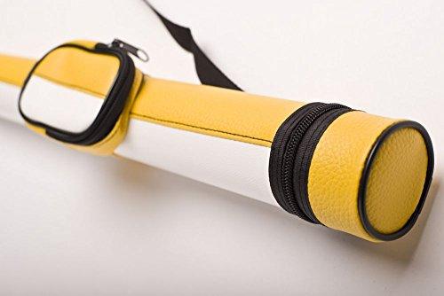 Cuel Billard-Köcher Arsenal 1/1 für Pool-Billard-Queues, aus Kunstleder, mit Schultergurt und Seitentasche für Billardzubehör