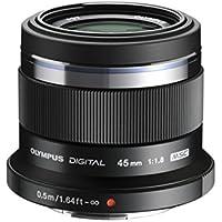 Olympus V311030BE000  - Objetivo para Micro Cuatro Tercios (distancia focal fija 45mm, apertura f/1.8-1,8, zoom óptico 1x,) color negro