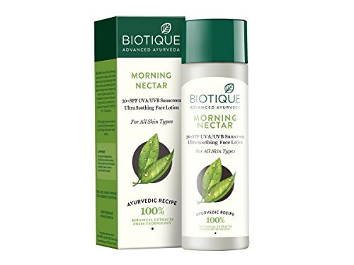 Biotique Morning Nectar Lightening and Nourishing Lotion SPF 30 UVA/UVB