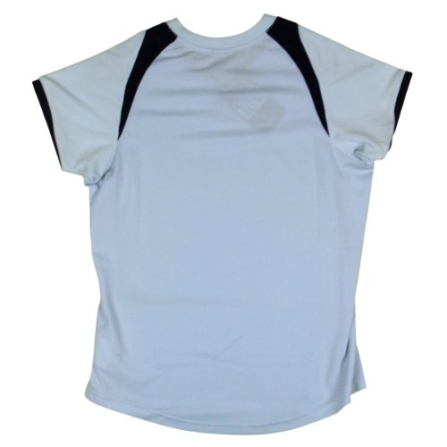 Nike Damen Trocken Dri Fit Laufhemd Ärmelloses Top Damen Fitnessstudio Trainings T-Shirt Hell Blau Tee (Klein Brust Logo)