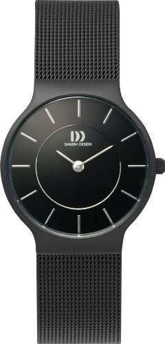 Danish Design DZ120039 - Reloj analógico de cuarzo para mujer, correa de acero inoxidable color negro