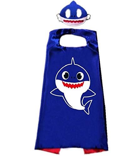 Jiaxingo Shark Umhänge und Masken Shark Umhänge Shark Dress up Kostüm Birthday Party Supplies für Kinder & Kleinkinder - Shark Kleinkind Und Kinder Kostüm