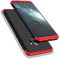 Galaxy S9 Plus Funda, WindCase 360 Grados Cuerpo Completo Protección 3 en 1 Duro PC Funda Anti-rasguños Carcasa para Samsung Galaxy S9 Plus Negro Rojo