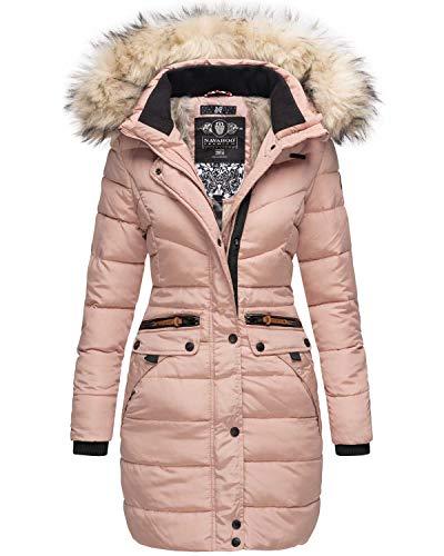 Navahoo Damen Winter Jacke Mantel Parka warm gefütterte Winterjacke B383 (XS, Rosa)
