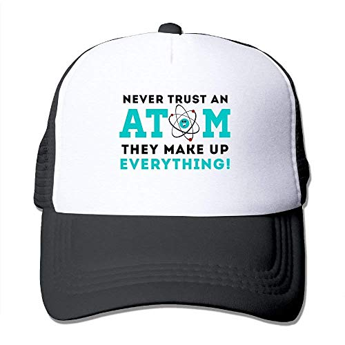 Preisvergleich Produktbild Suxinh Never Trust A Atom Mesh Hat Baseball Caps Funny Grid Hat Adjustable Trucker Cap