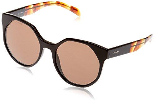 Prada Damen 0PR11TS 1AB8C1 55 Sonnenbrille, Schwarz (Black/Brown),