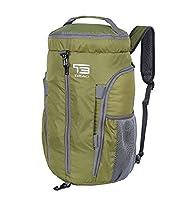 TB 35L/40L Foldable Lightweight Duffel Daypack Waterproof Travel Sports Backpacks Gym Bag (ARMY GREEN, 35L)