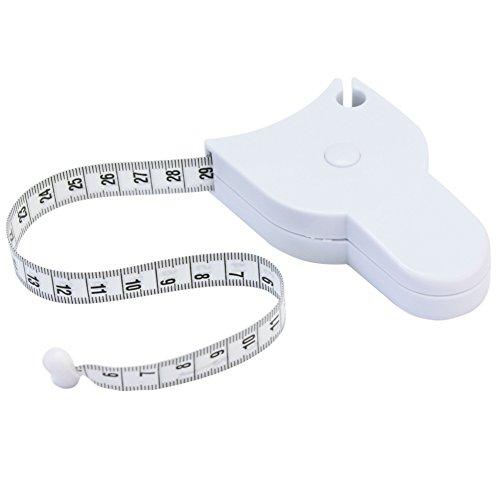 150cm Fitness Rollmaßband Rollenmaßband Körperfettmessgerät Tape Ruler Weiß