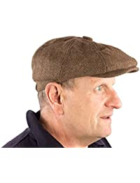 36b2911ffd9 Mens 8-Panel Baker Boy Flat Cap Wool Mix Herringbone Tweed Peaky Blinders  Style Hat