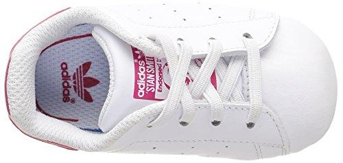adidas Originals Unisex Baby Stan Smith Crib Lauflernschuhe Weiß (Ftwr White/Ftwr White/Bold Pink)