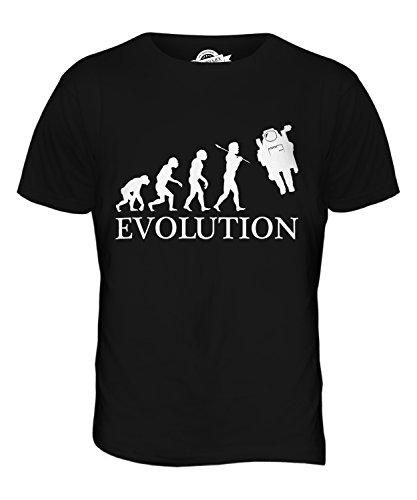 CandyMix Raumfahrer Evolution Des Menschen Herren T Shirt Schwarz
