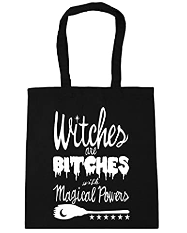 HippoWarehouse Witches Are Bitches With Magical Powers Tote Shopping Gym Beach Bag 42cm x38cm, 10