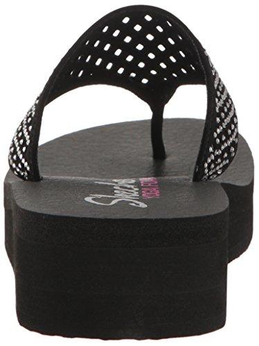 Skechers Vinyasa-#Flow 38648/BLK Damen Pantolette ab 30mm Absatz, Größe 37.0 -