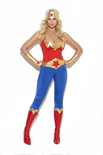 Elegant Moments Damen Super Hero - Mehrfarbig - (Frederick Hollywood Kostüm)