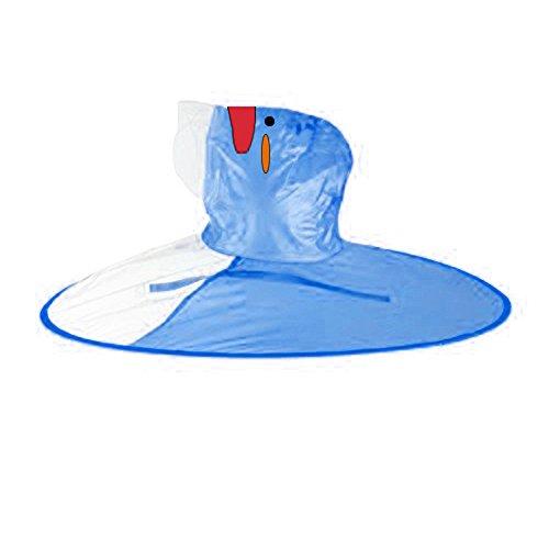 Baby Junge Kleidung Outfit, Honestyi Netter Regen Mantel UFO Regenmantel Pinguin Regenmantel Kinderregenschirm Hut magische Hände geben Regenmantel Kind frei (Blau,)