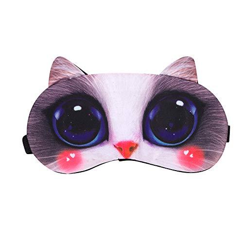 Augenabdeckung Lichtschutz Schlafmaske Unisex Braune Katze, 19 x 9 cm(LxB)