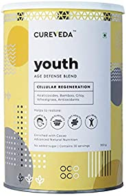 Cureveda Youth Anti-Aging Blend for Wrinkles Fine Lines Gut Health and General Well-Being Skin Rejuvenation An