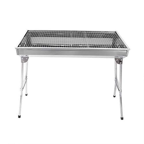 Super grills Stainless Steel BBQ Charcoal Grill Smoker Barbecue Folding Portable for Outdoor Cooking Camping Hiking Picnics Backpacking