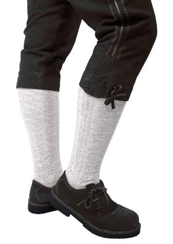 Trachtenstrumpf/Trachtenstrümpfe Herren / Trachtenkniestrumpf / Kniebundstrumpf lang - Ökotex Weiß