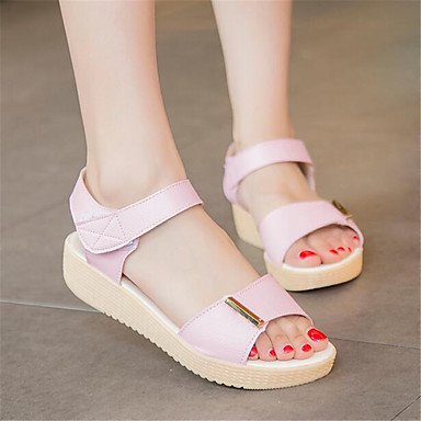 RTRY Donna Sneakers Comfort Pu Molla Canvas Informale Comfort Piatto Bianco US6 / EU36 / UK4 / CN36