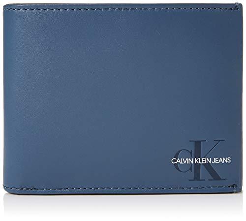 Calvin Klein Herren Monogram Billfold W Coin Geldbörse, Blau (Washed Blue), 3x9.5x13 cm -